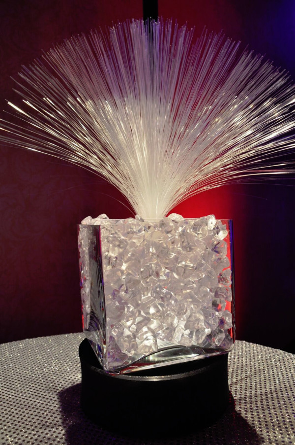 Fiber Optic with Glass Beads Centerpiece