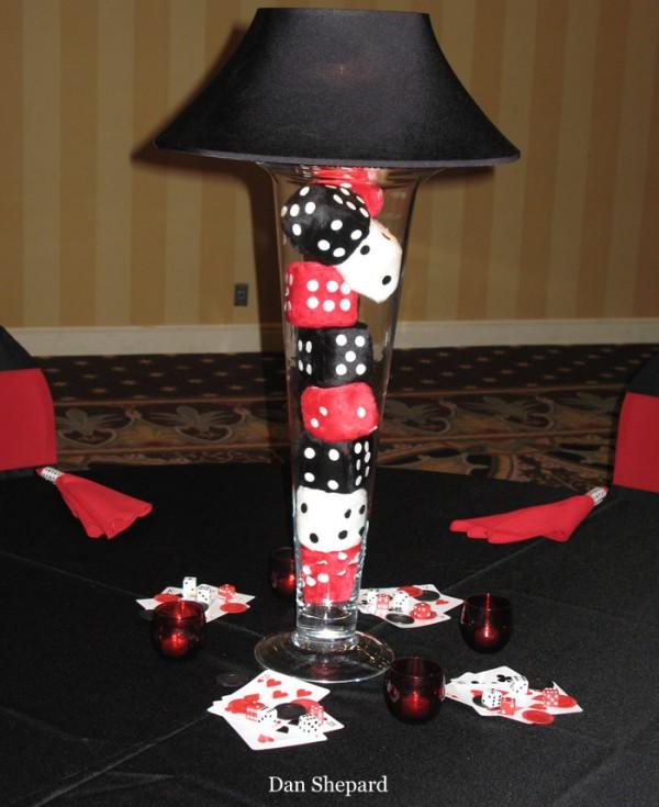 Vegas Themed Trumpet Lamp