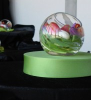 Studio Glass with Spring Tulips