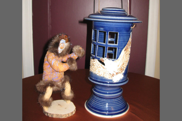 Spirit Doll with Ceramic Lantern