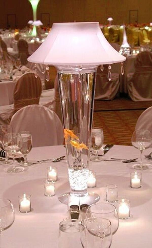 Tall Trumpet Goldfish Lamp
