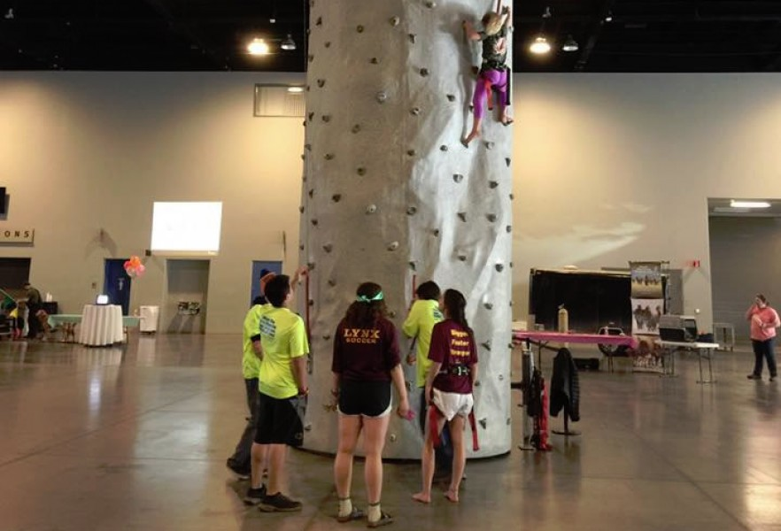 Climbing Wall Team Building