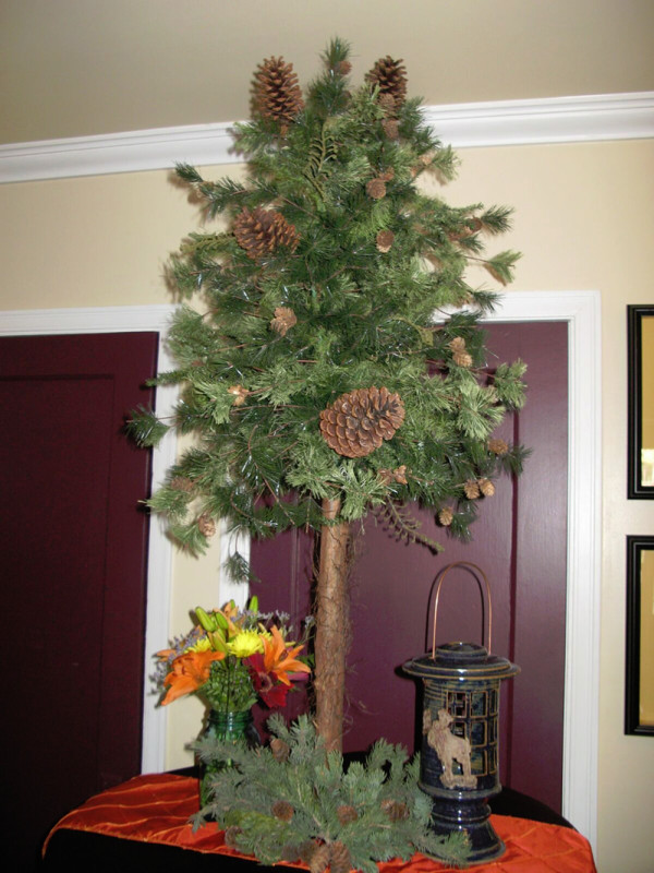 Alaskan Tree with Mixed Floral and Lantern