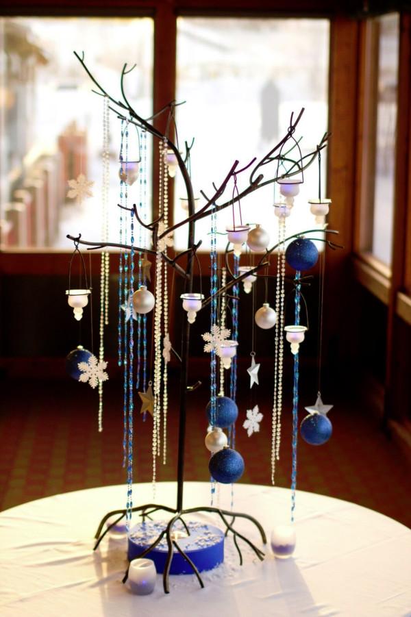 Blue Holiday Metal Tree