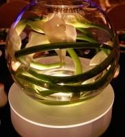 White Calla Lily Round Vase