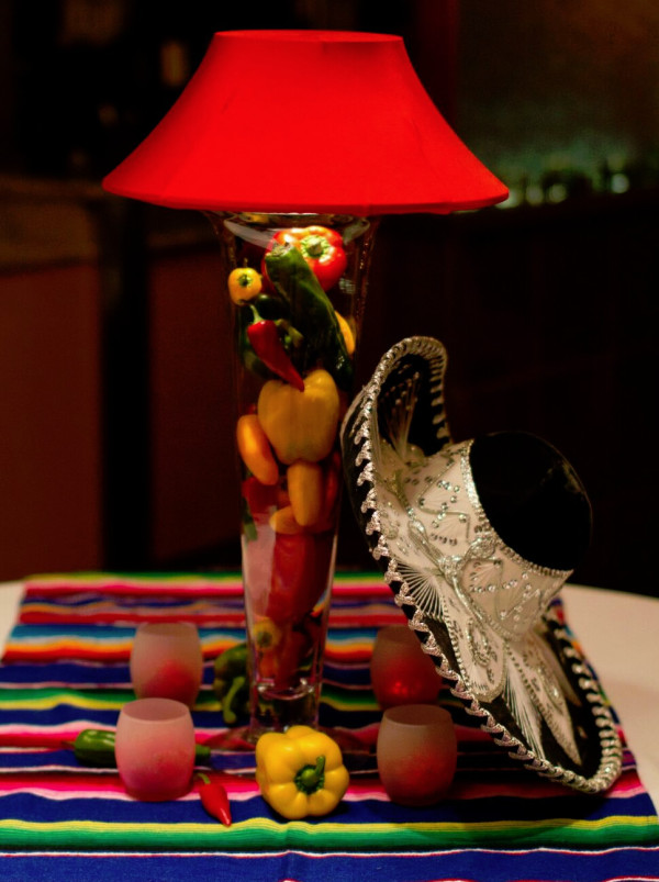 Mexican Tall Trumpet Lamp