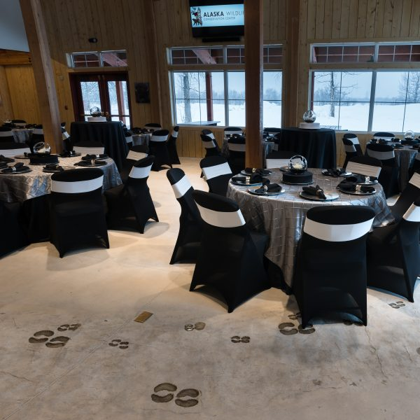 Bison Hall Black/Silver Decor